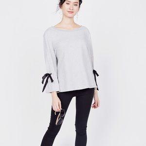 Sanctuary bow sleeve sweatshirt